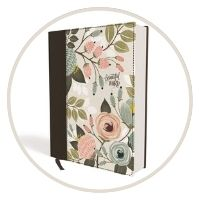 #2- NIV, Beautiful Word Bible, Updated Edition, Peel/Stick Bible Tabs, Cloth over Board, Floral, Red Letter, Comfort Print: 600+ Full-Color Illustrated Verses