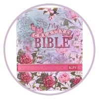 #10- KJV Holy Bible, My Creative Bible, Silky Floral Flexcover Journaling Bible w/Ribbon Marker, 400 Scripture Illustrations to Color, King James Version