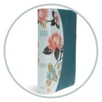#5- The CSB Study Bible For Women, Teal Flowers LeatherTouch, Indexed